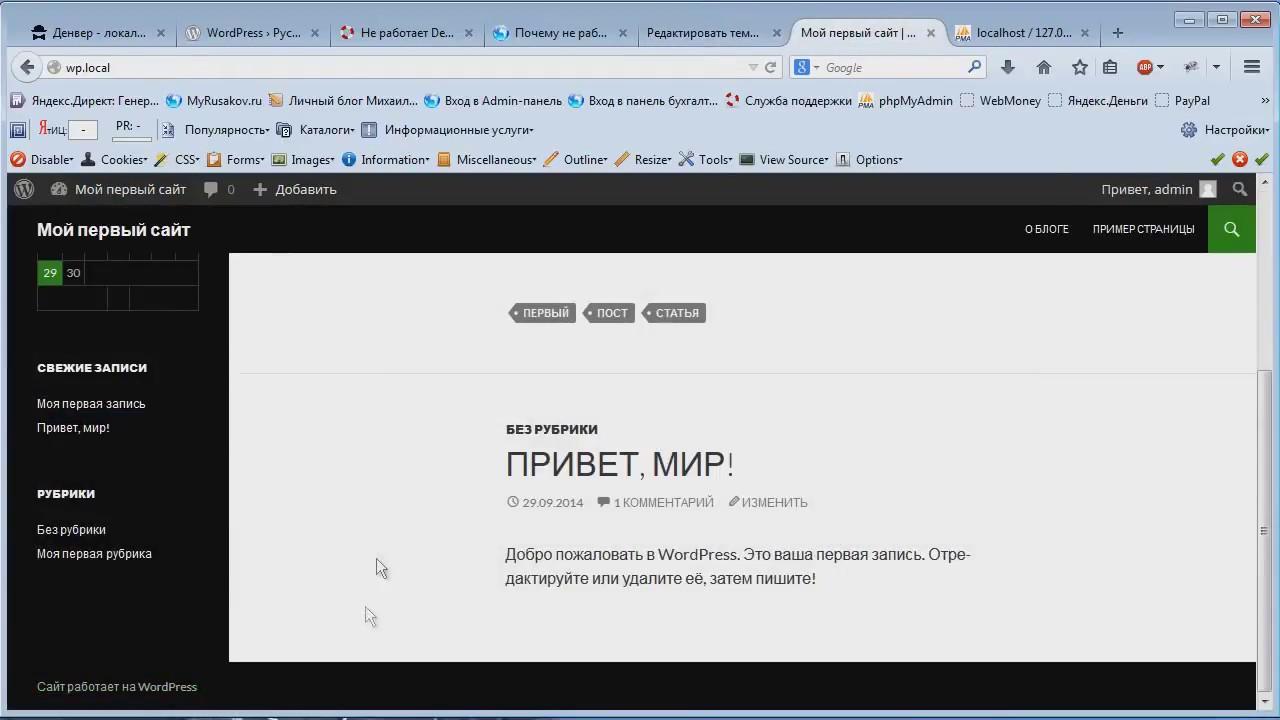 Как создать сайт на Вордпресс видеоурок Михаил Русаков