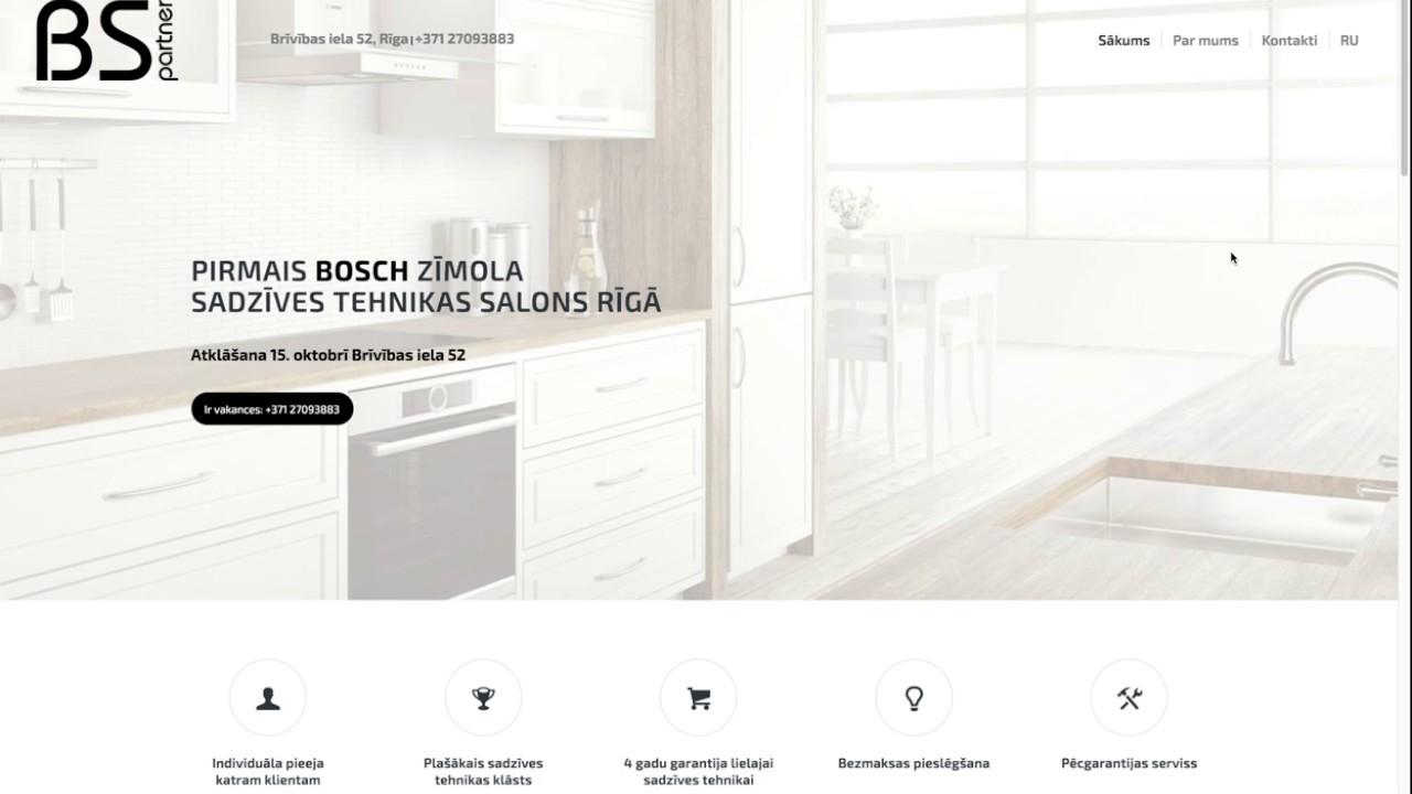 Создание сайтов Создание сайта для салона бытовой техники