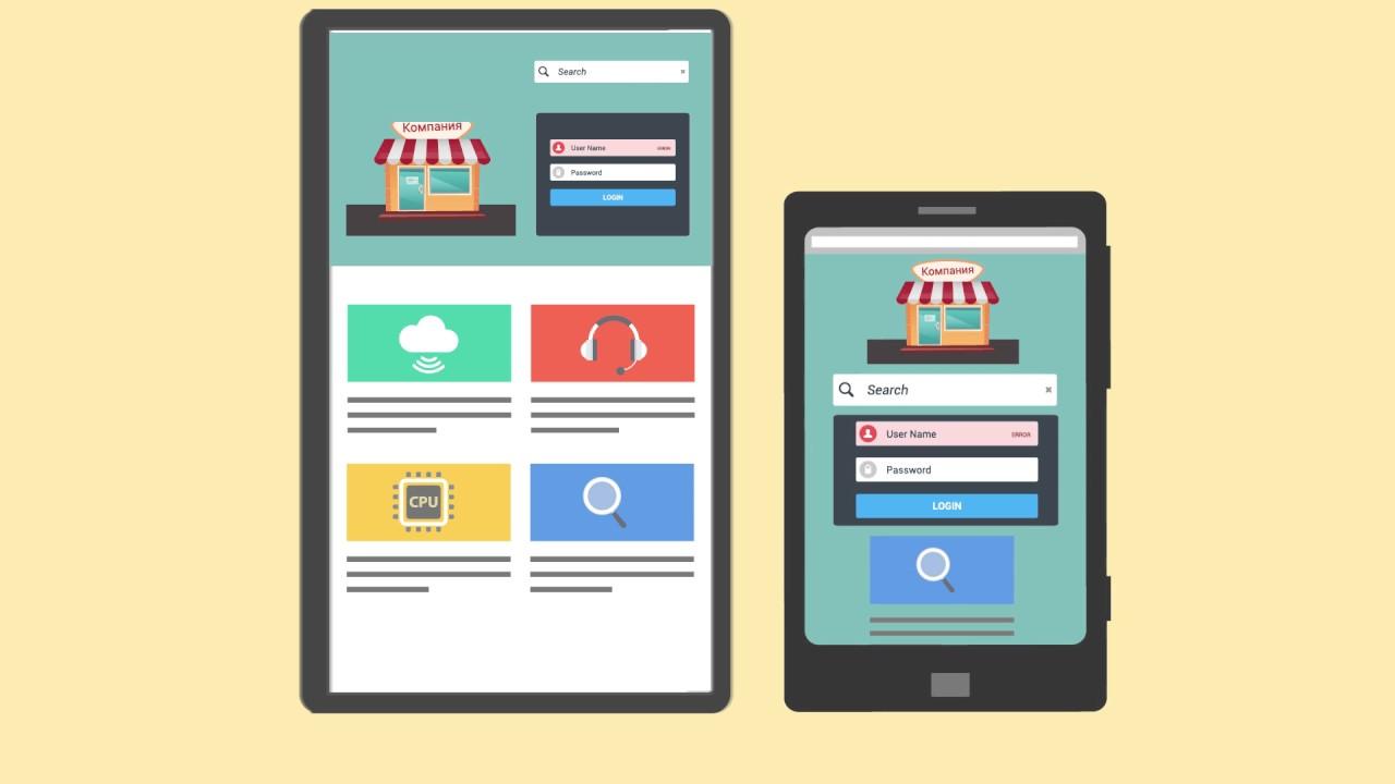 Создание сайтов Мобильная версия сайта Адаптивная верстка сайта