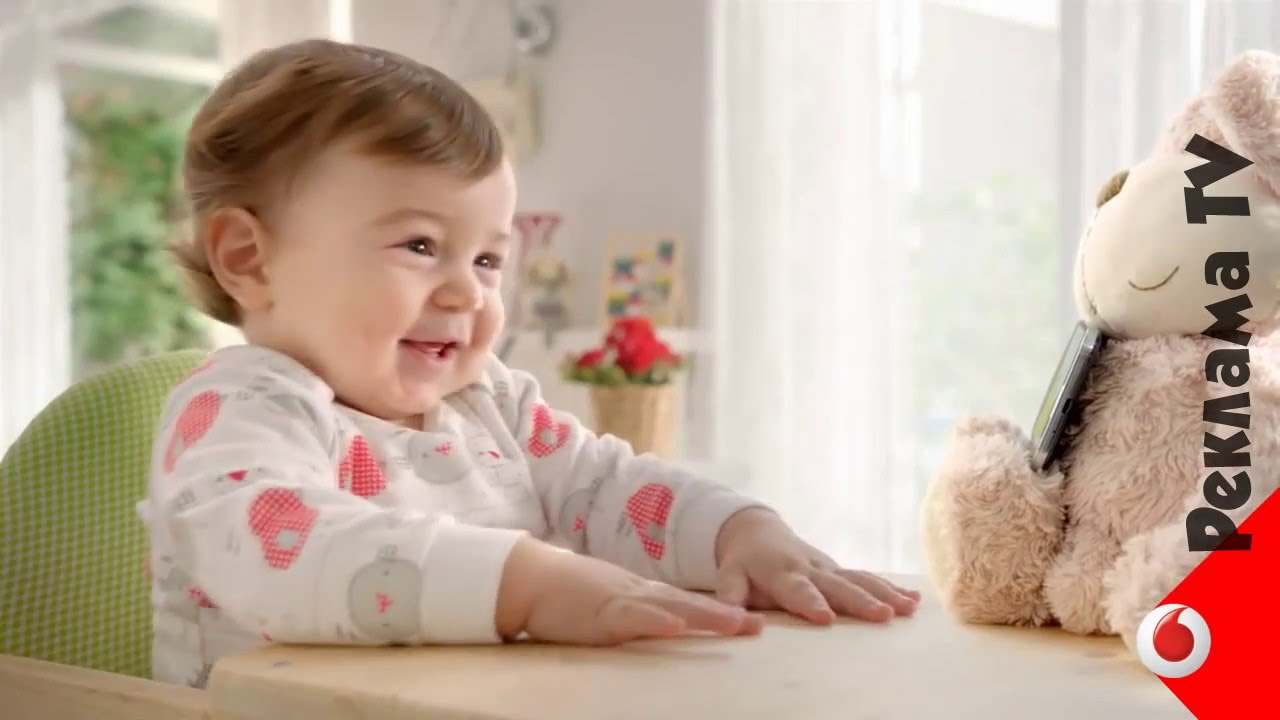 Реклама Водафон Ред ребенок смеется Украина