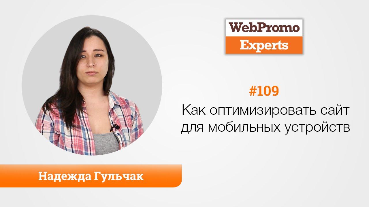 Варианты оптимизации сайта под мобильные устройства Надежда Гульчак