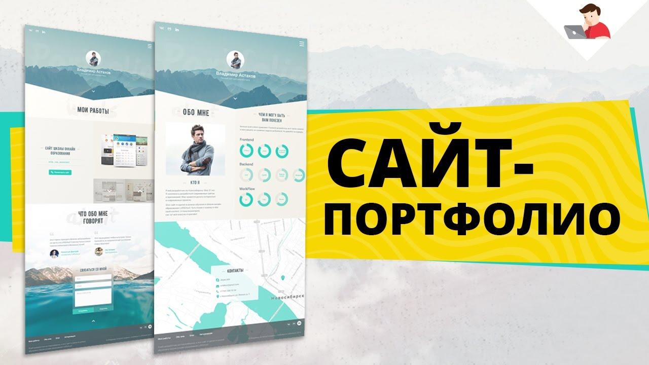 Сайт-портфолио выпускной проект Продвинутого курса по веб-разработке