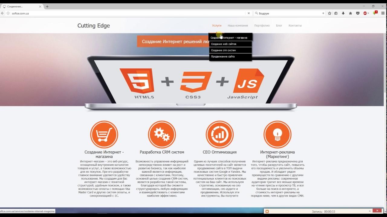Создание интернет магазина и раскрутка сайтов