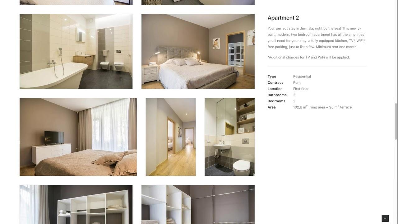 Создание сайта для комплекса апартаментов