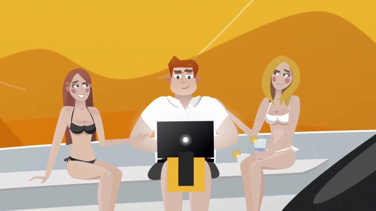 Анимационный дизайн ролика инфографика для сайта