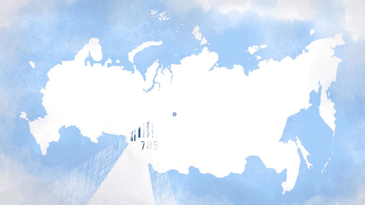 Рекламный мультфильм с инфографикой