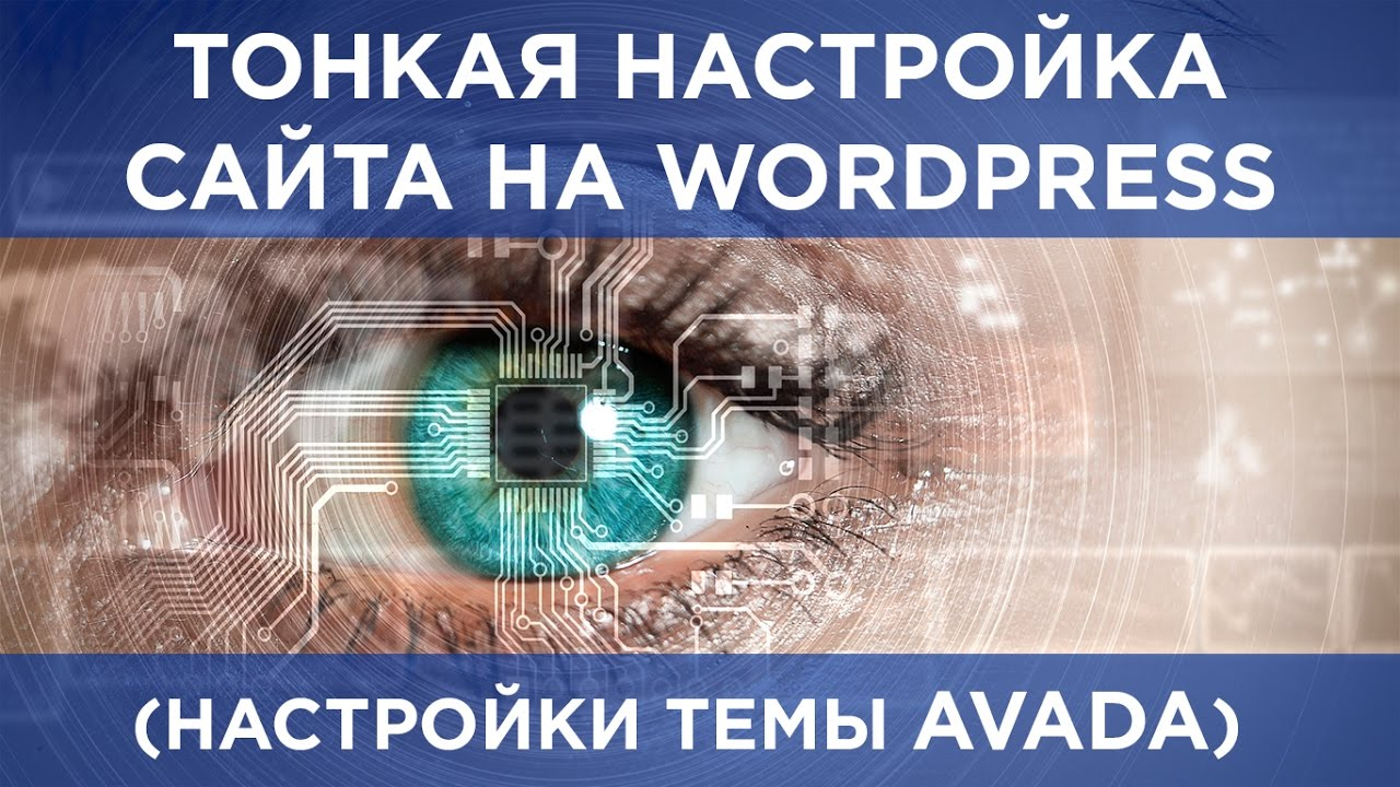 Тонкая настройка сайта на Вордпресс Настройки темы